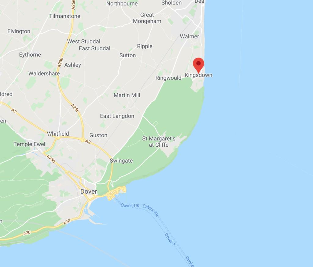 Kingsdown holiday park location map
